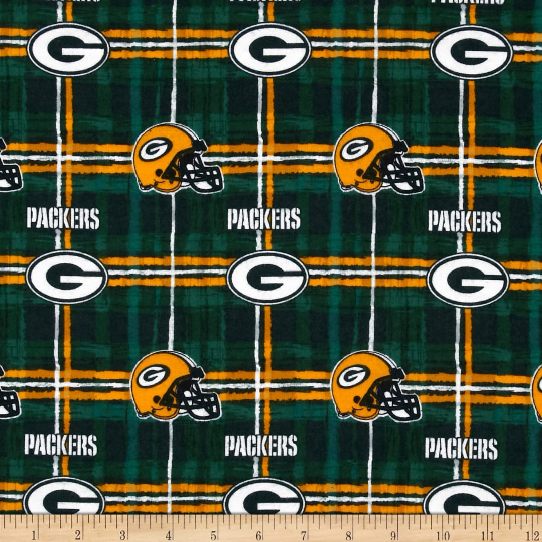 Nfl Flannel Green Bay Packers Green Yellow Fabric Com