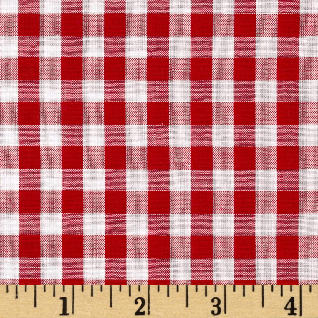 Richcheck 60 Gingham Check 1 4 Red Fabric Com