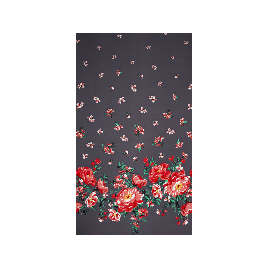 Michael Miller Bed Of Roses Cabbage Rose Border Pearl Fabric Com