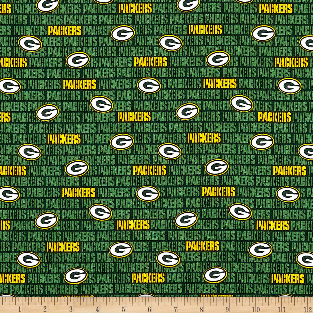 Nfl Cotton Broadcloth Green Bay Packers Mini Green Fabric Com