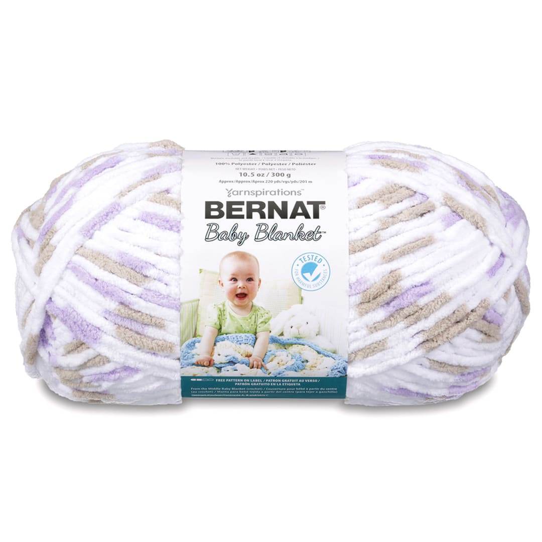 Bernat Baby Blanket Yarn Gauge 6 Super Bulky 3.5 oz Little Sand Castles