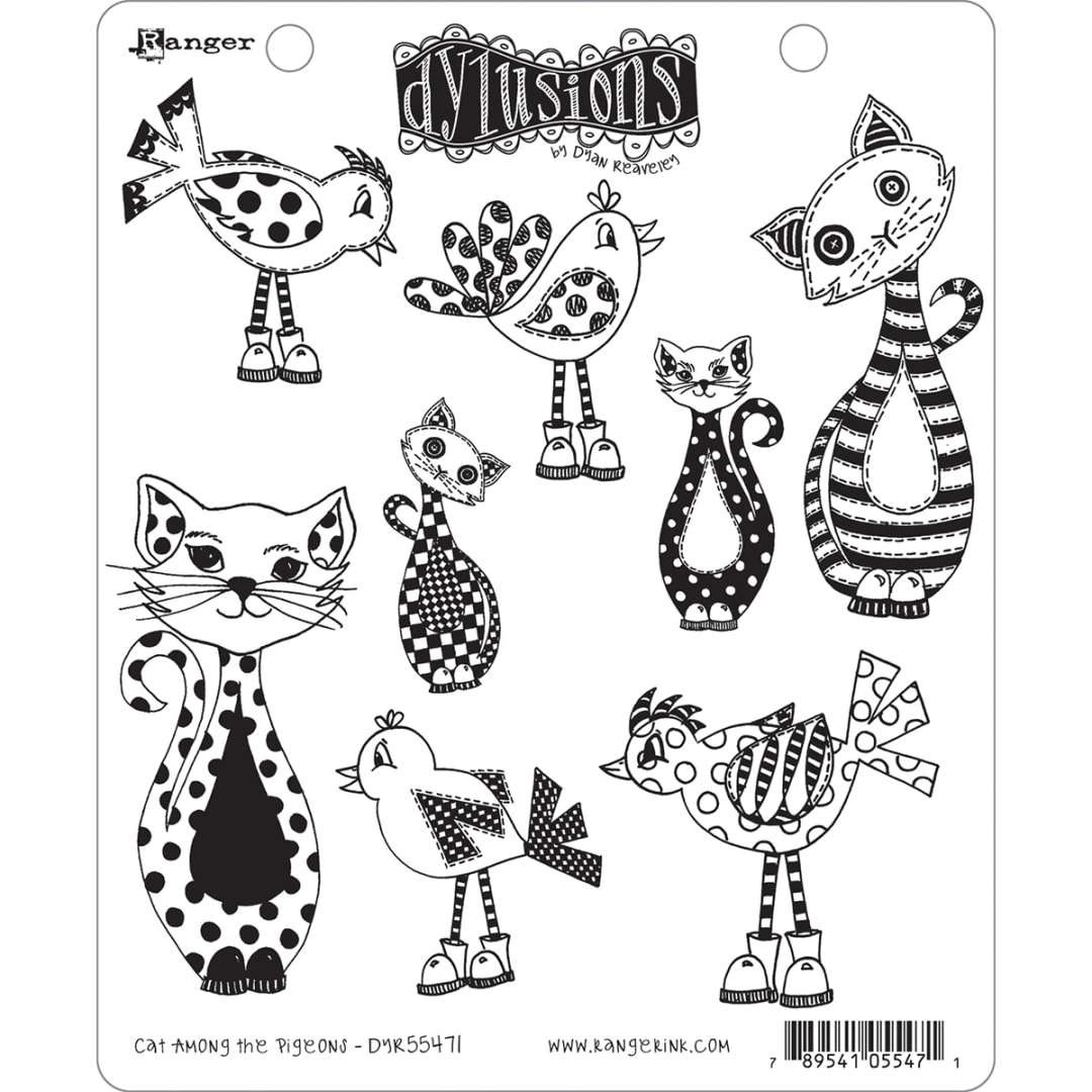 """Dyan Reaveley/'s Dylusions Cling Stamp Collections 8.5/""""X7/""""-Home"""