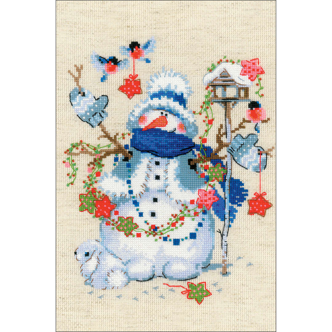 """RIOLIS Counted Cross Stitch Kit 8.3/""""X11.8/""""-Christmas Eve 14 Count"""