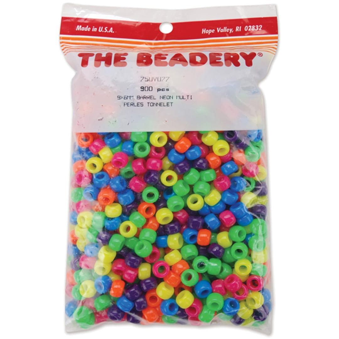 Pony Beads 6mmX9mm 900//Pkg-Pearl Multicolor
