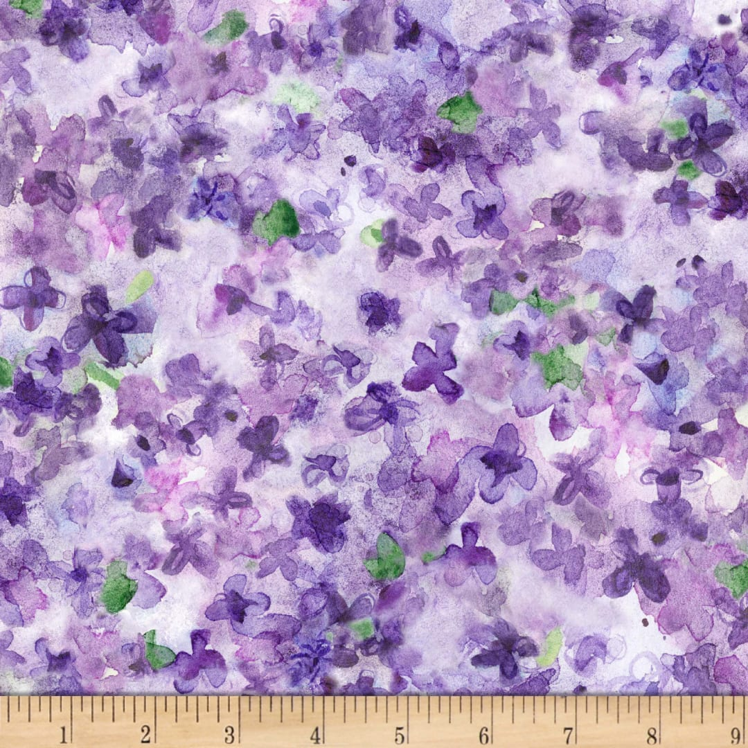 Watercolor Flowers Mauve Dreaming of Tuscany for Michael Miller Fabrics CX9266-MAUV-D