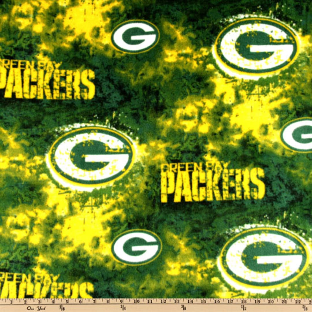 Nfl Fleece Green Bay Packers Tie Dye Green Yellow Fabric Com