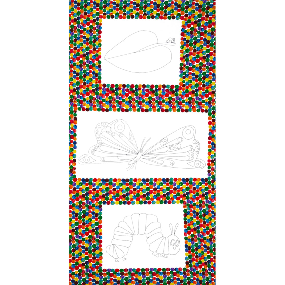 - The Very Hungry Caterpillar Coloring Book Panel Multi - Fabric.com