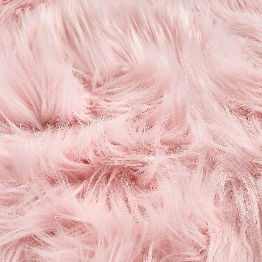 SUPER SOFT PINK FROST Super Luxury Faux Fur Fabric Material