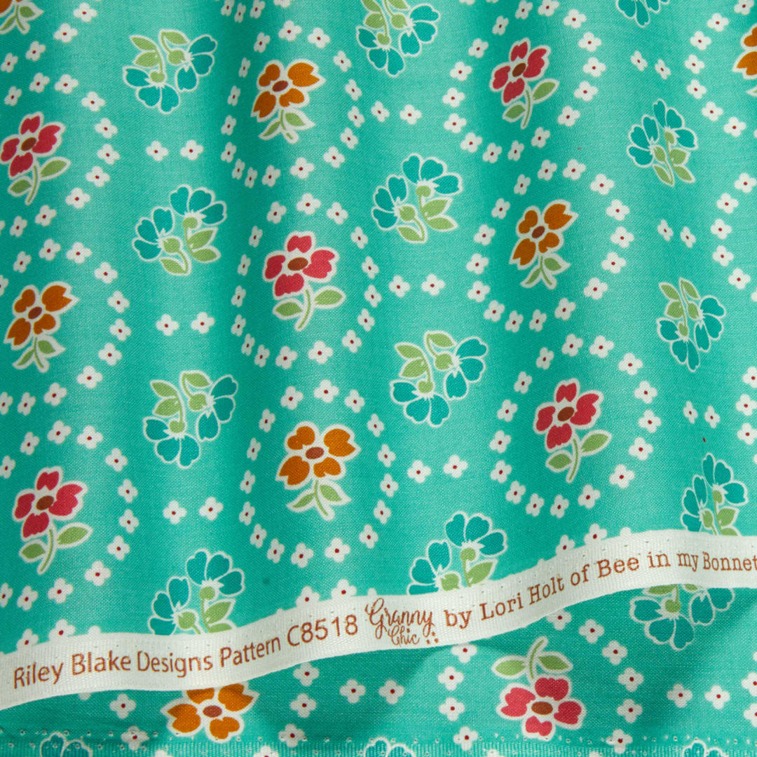 Granny Chic by Lori Holt of Bee in my Bonnet for Riley Blake Designs C8518-TEAL