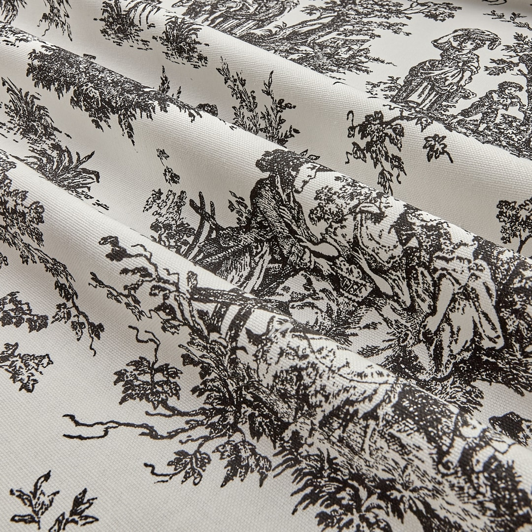 Premier Prints Colonial Toile Black