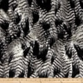 Shannon Faux Fur Fancy Feather Black/White