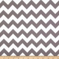 Riley Blake Flannel Basics Chevron Medium Gray