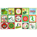 How The Grinch Stole Christmas Flannel 3 Block Panel Green