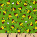 Camp Peanuts Woodstock Toss Green