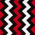 Riley Blake Medium Chevron Red/Black