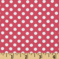 Knit Small Dots Hot Pink