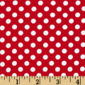 Knit Small Dot Red