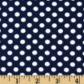 Riley Blake Jersey Knit Small Dots Navy