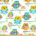 Baum Winterfleece Owls Multi