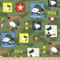 Peanuts Hugs for Heroes Patchwork Olive