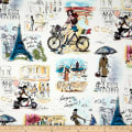 Combine into FC-129 Who's That Girl Paris Collage Ivory