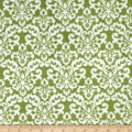 Shannon Minky Cuddle Classic Damask Jade/Snow
