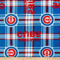 MLB Fleece Chicago Cubs Plaid Red/Blue