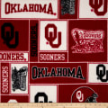Collegiate Fleece University of Oklahoma Collage Red/White