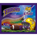 Collegiate Fleece Panel Louisiana State University Purple