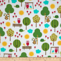 Urban Flotologie Flannel Animals In Trees Sorbet