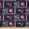 NFL Wide Cotton Broadcloth New England Patriots Patchwork Blue/Red