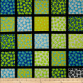 Kanvas What a Whirl Daisy Square Black/Turquoise