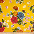 Oilcloth Mums Yellow