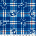 MLB Fleece Los Angeles Dodgers Plaid Blue