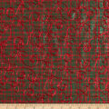 Holiday Blitz Embroidered Plaid Green/Red