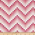 Mosaic Chevron Red