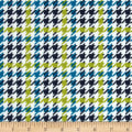 Cozy Cotton Flannel Houndstooth Marine