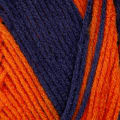 Red Heart Team Spirit Yarn (960) Orange/Navy