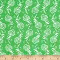 Contempo Feathers Green/White