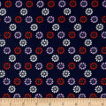 Cotton + Steel Mustang Daisies Navy
