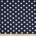 Premier Prints Stars Navy Blue/White