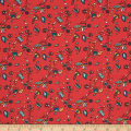 Birch Organic Picnic Whimsy Breezy Floral Red