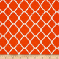 Quatrefoil Orange/White