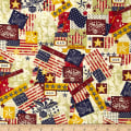 Made in the USA Antique Flags Red, White, Blue/Antique