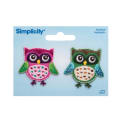 Simplicity Iron On Appliques 2/Pkg Owls