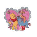 Disney Winnie The Pooh Iron On Applique Pooh & Friends Heart