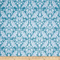 Riley Blake Basics Medium Damask Teal