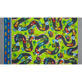 Kanvas Vroom Speedway Floor Mat Green