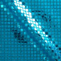 Sequin Check Fabric Turquoise