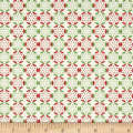 Fabric Freedom Christmas Character Snowflakes Green